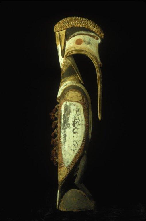 Papua New Guinea Wood Bird Figure Carving
