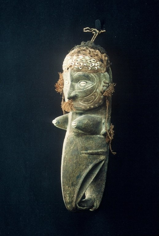 Papua New Guinea Female Figure Carving