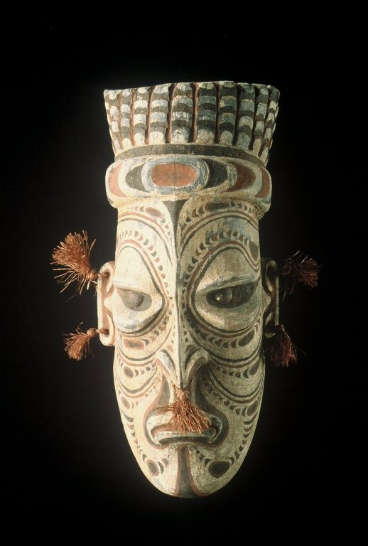 Papua New Guinea Wooden Head Carving