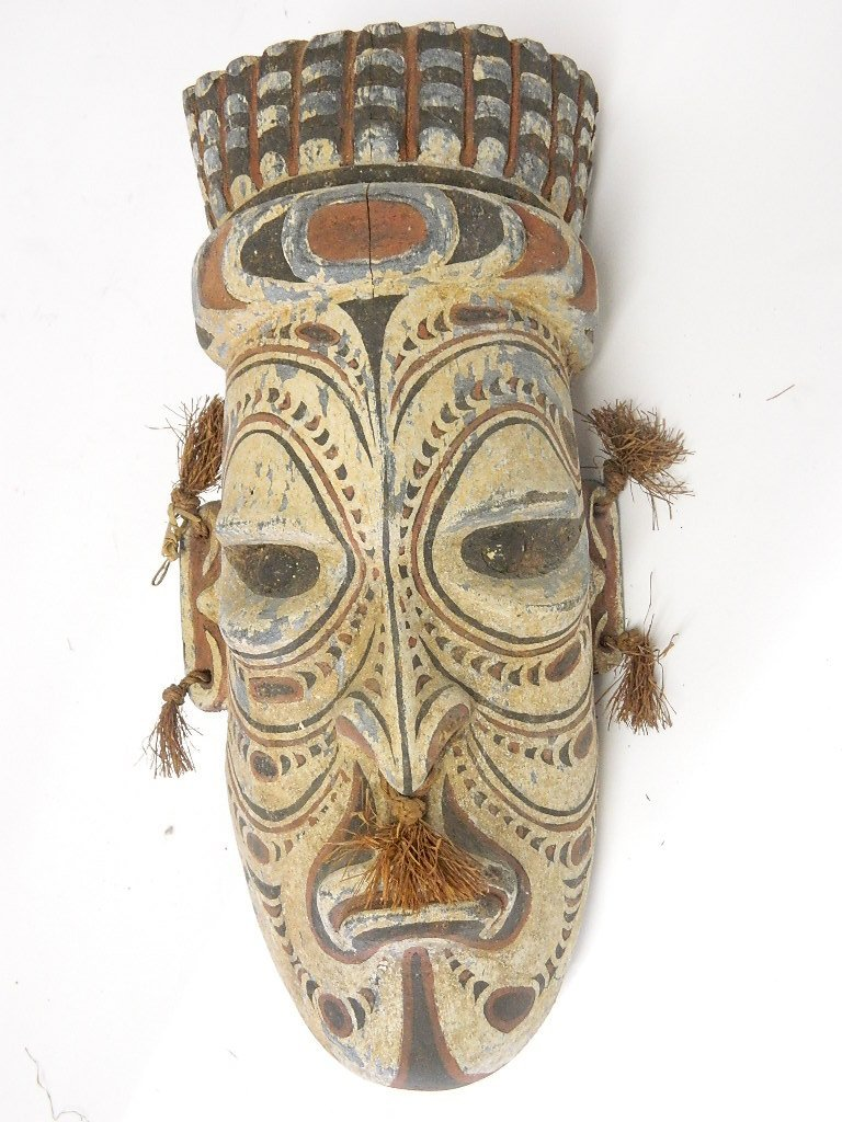Papua New Guinea Wooden Head Carving - 2