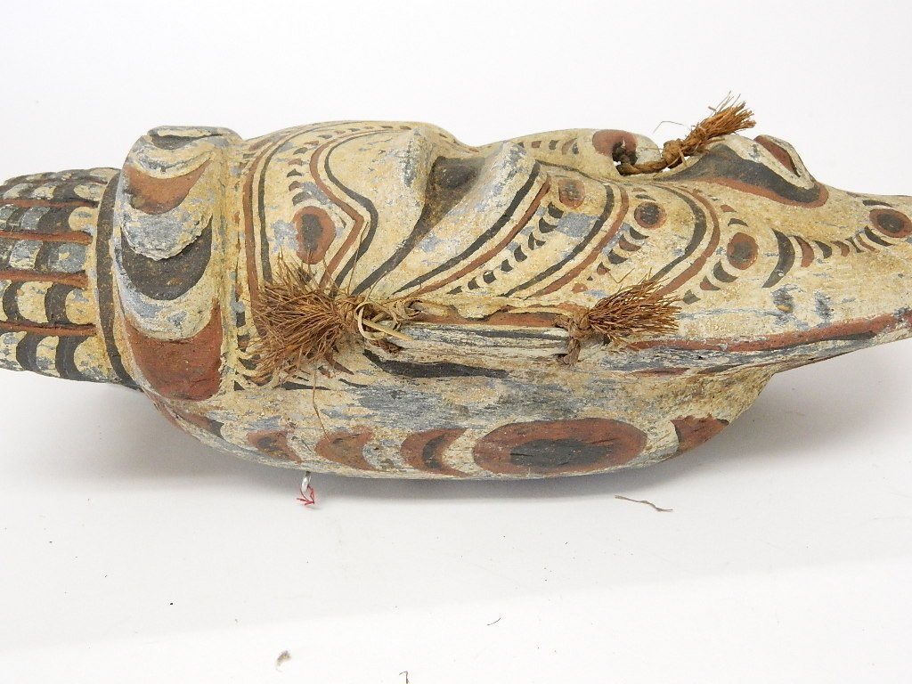 Papua New Guinea Wooden Head Carving - 3