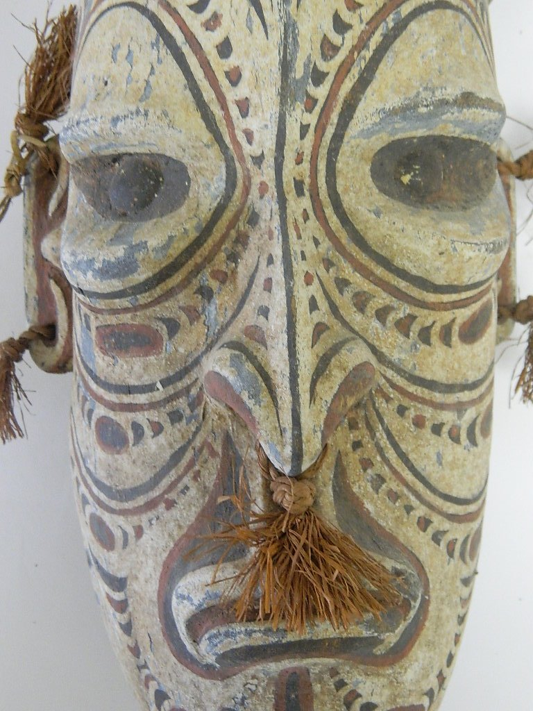 Papua New Guinea Wooden Head Carving - 6