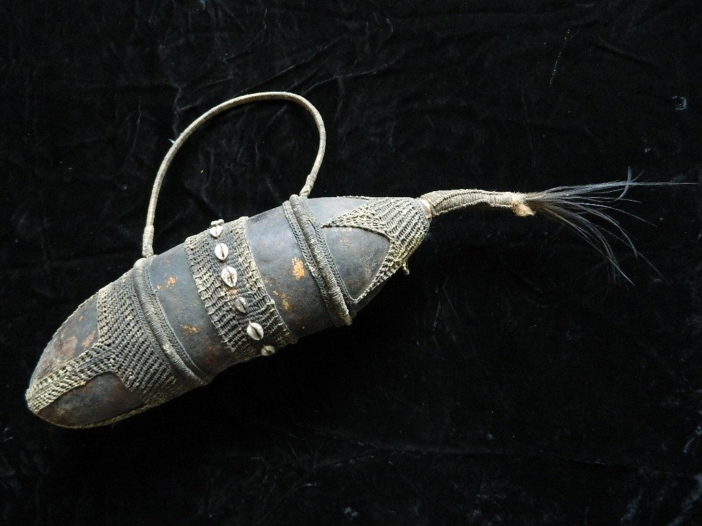 African Water Container Made From Gourd