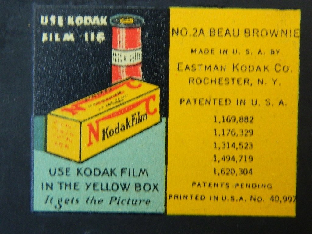Beau Brownie #2A Box Camera w/ Rare Face Plate - 8