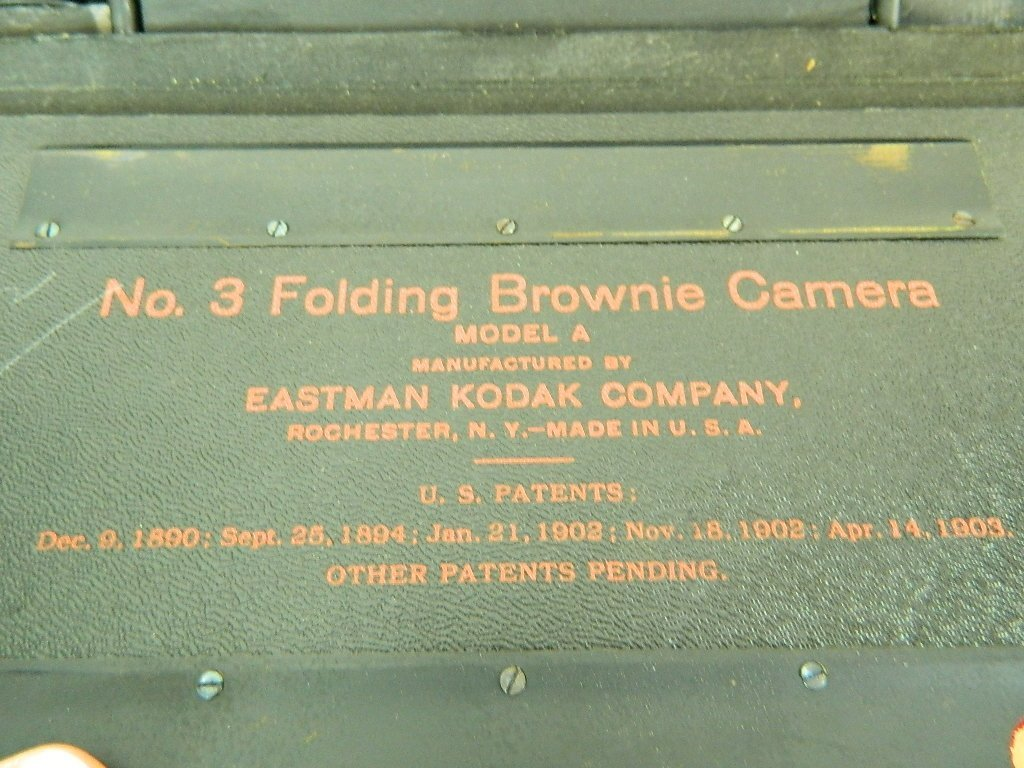 Eastman Kodak Co. No.3 Folding Brownie Camera - 8