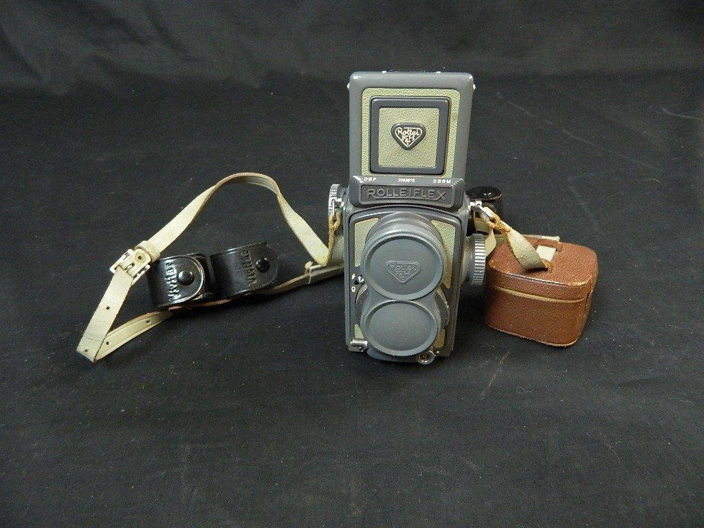 Rolleiflex 4x4 Gray Baby Camera w/ Case+ lenses Grey - 10