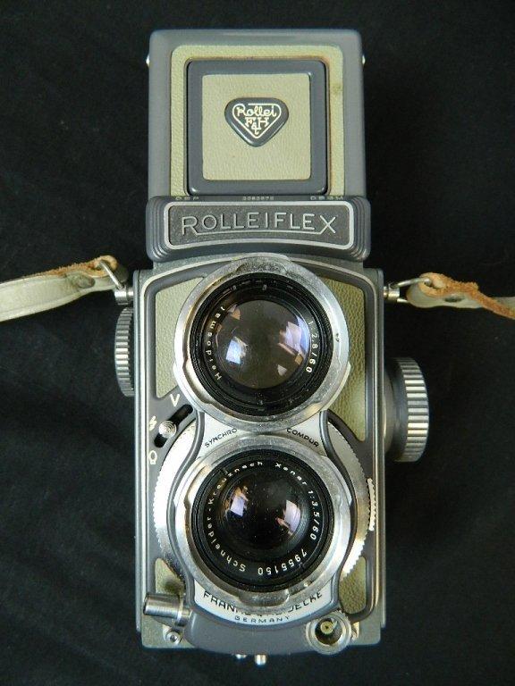 Rolleiflex 4x4 Gray Baby Camera w/ Case+ lenses Grey