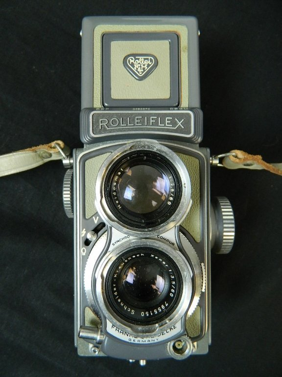 Rolleiflex 4x4 Gray Baby Camera w/ Case+ lenses Grey