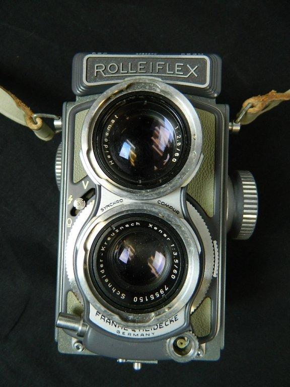 Rolleiflex 4x4 Gray Baby Camera w/ Case+ lenses Grey - 2