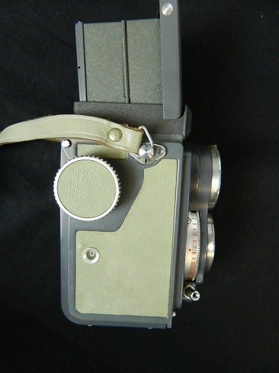 Rolleiflex 4x4 Gray Baby Camera w/ Case+ lenses Grey - 3
