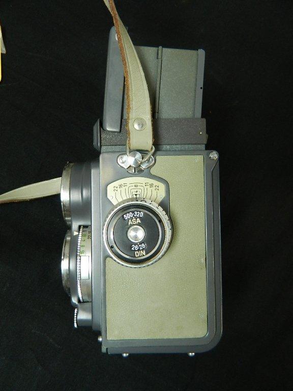 Rolleiflex 4x4 Gray Baby Camera w/ Case+ lenses Grey - 4