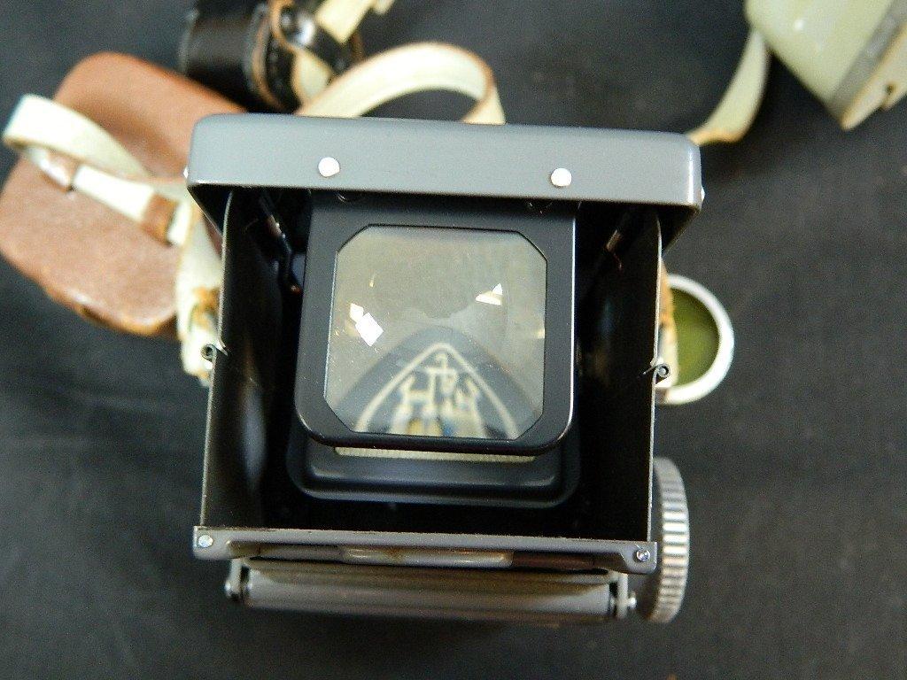Rolleiflex 4x4 Gray Baby Camera w/ Case+ lenses Grey - 6