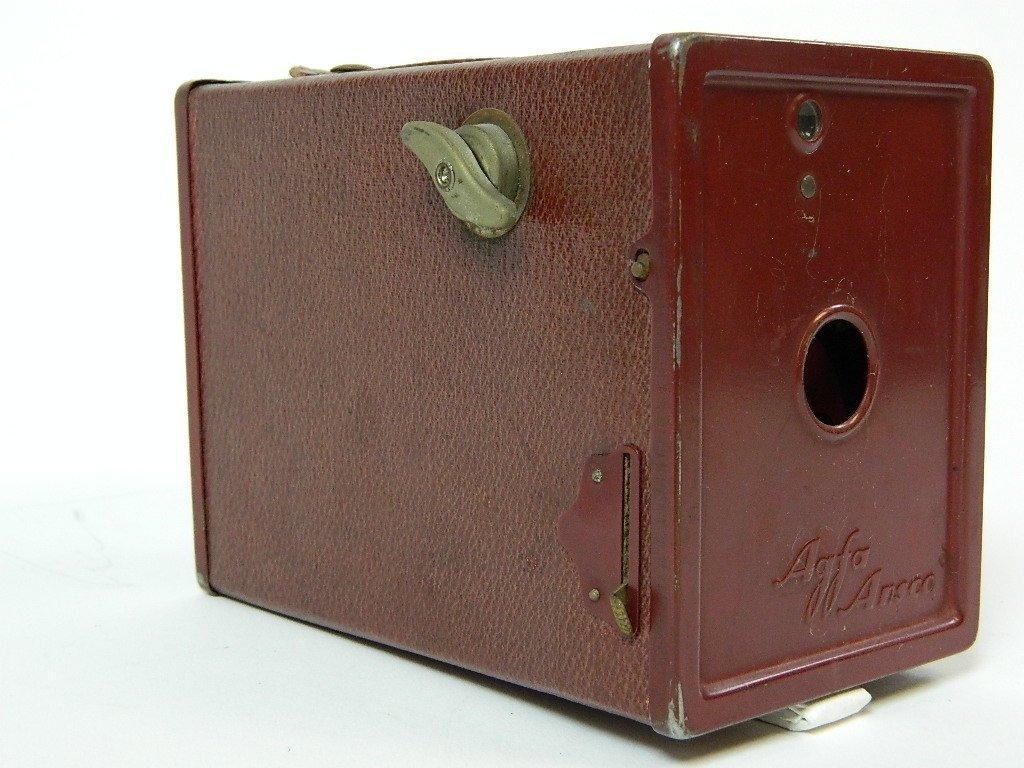 Vintage Red Body Afga Ansco Box Camera