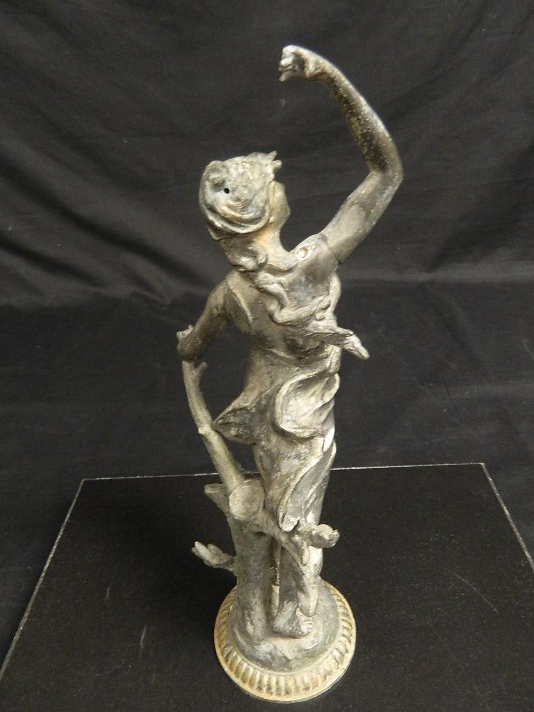 "14"" Woman In the Wind Art Nouveau c1910 Statue - 4"