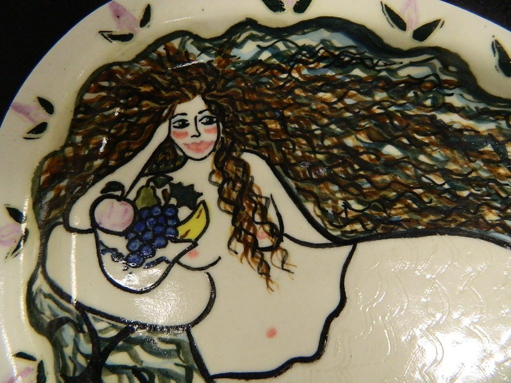 "Lake Michigan Mermaid ""The Whitefish"" Tray - 2"