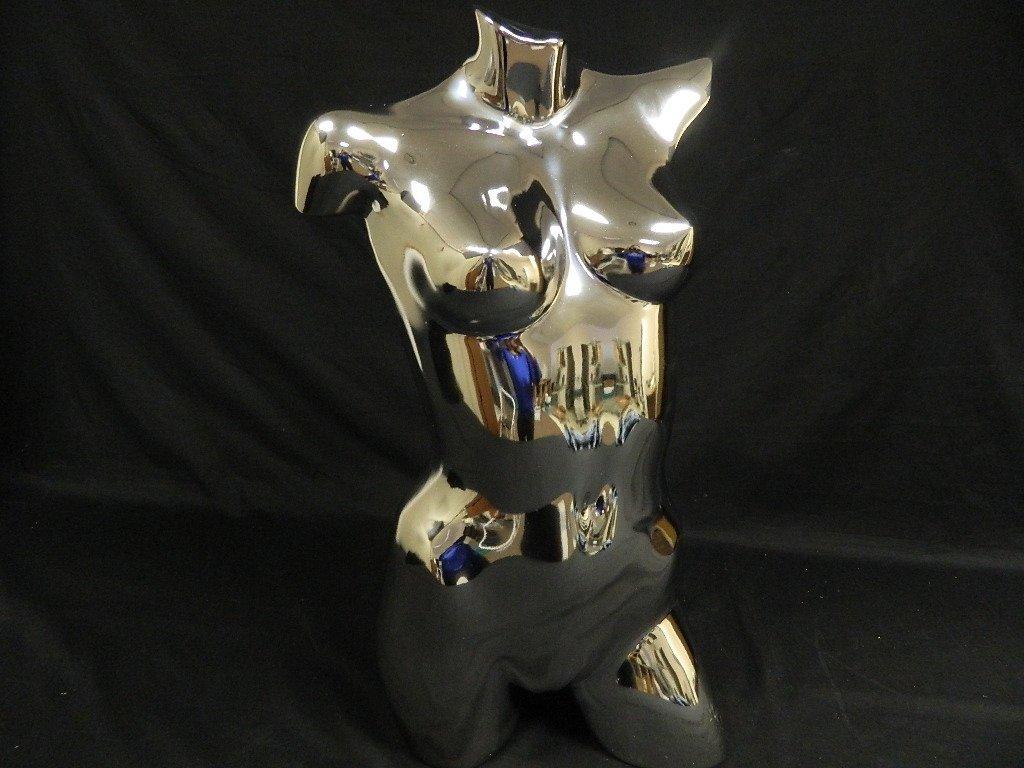 """29"""" Metallic Chrome Female Dress Form Model Mannequin"""