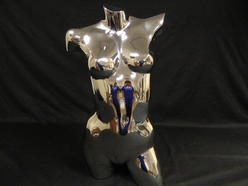 """29"""" Metallic Chrome Female Dress Form Model Mannequin - 3"""