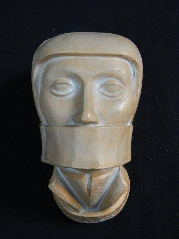 Woman in Bondage Head Sculpture