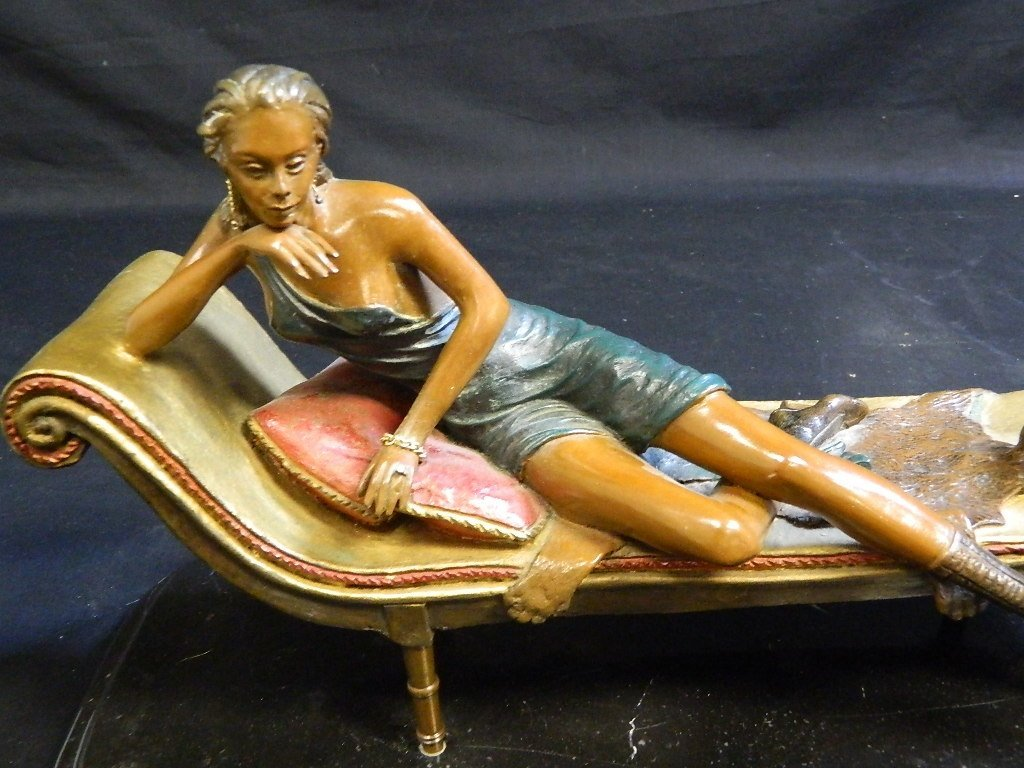 Lounging Woman Sculpture Signed/Numbered Alberto - 2