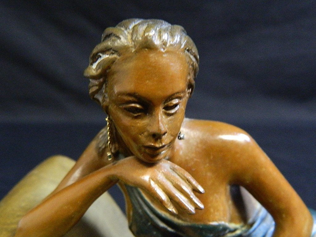 Lounging Woman Sculpture Signed/Numbered Alberto - 5