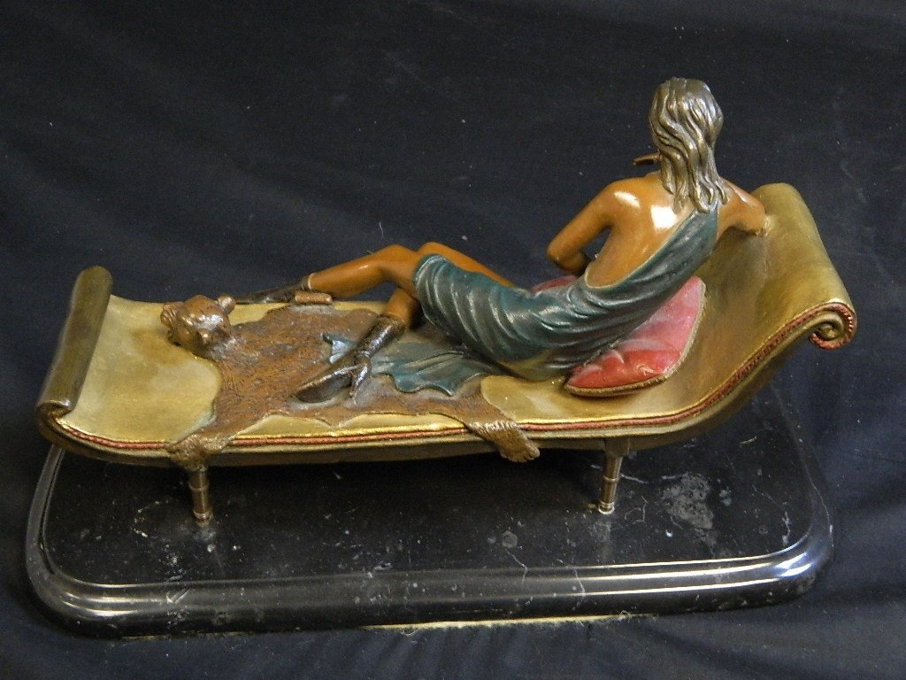 Lounging Woman Sculpture Signed/Numbered Alberto - 7