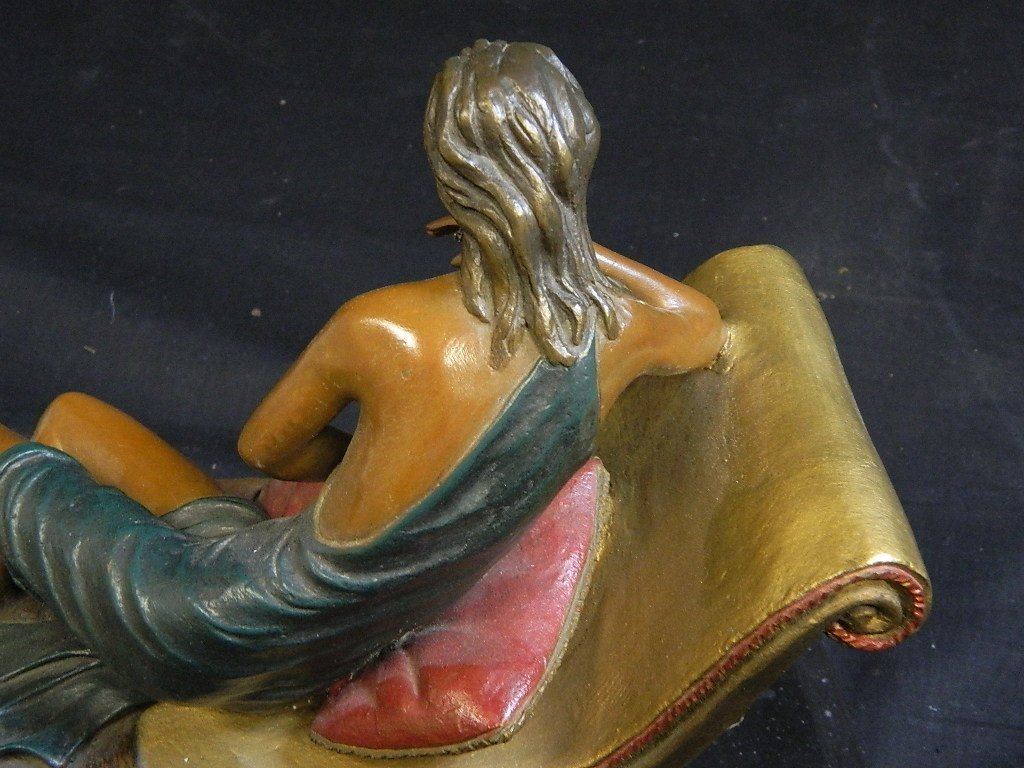 Lounging Woman Sculpture Signed/Numbered Alberto - 8