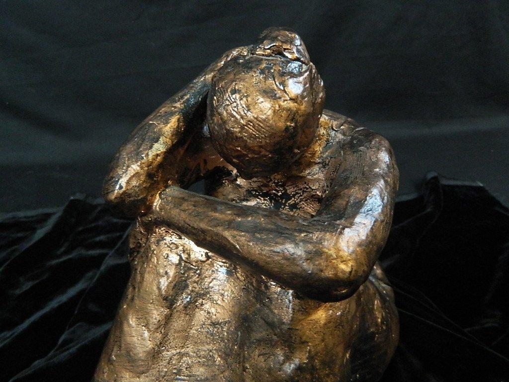 Contemplating Woman Plaster Scuplture - 5
