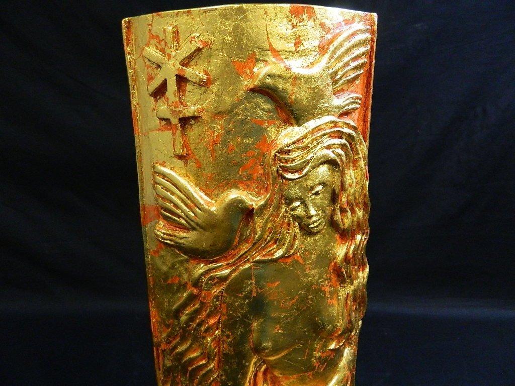 Lauren Grey Standing Plaster Female Sculpture - 2
