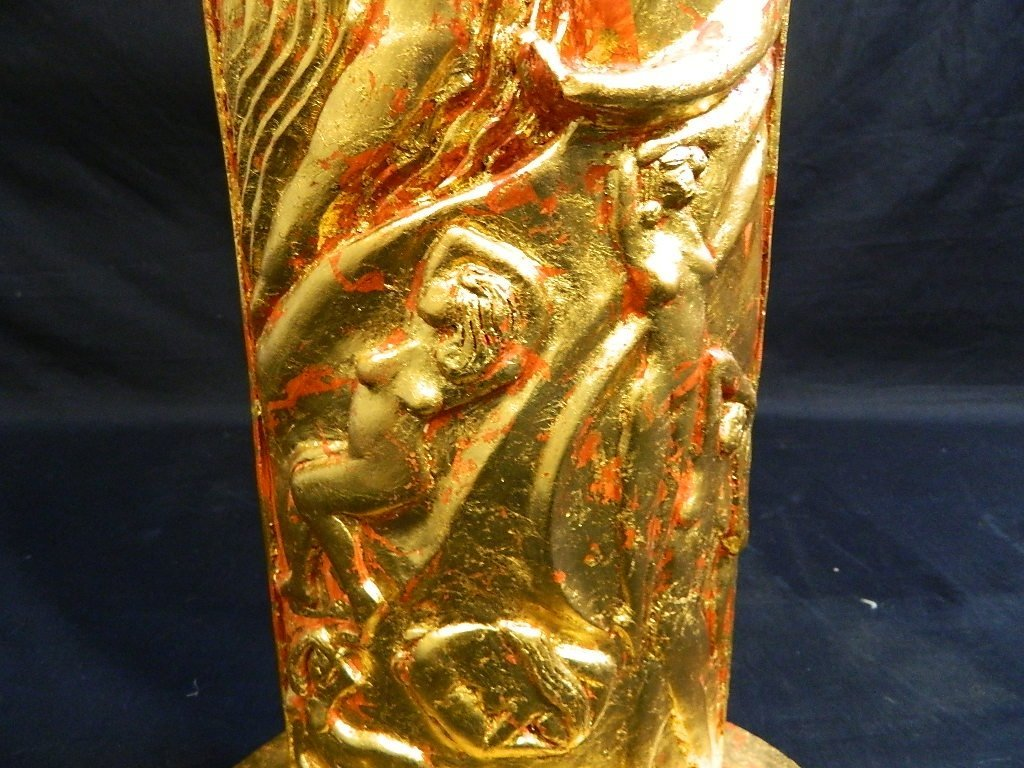 Lauren Grey Standing Plaster Female Sculpture - 3