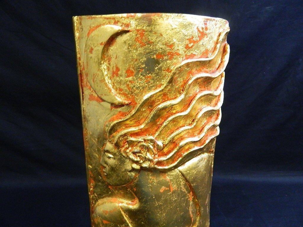 Lauren Grey Standing Plaster Female Sculpture - 6
