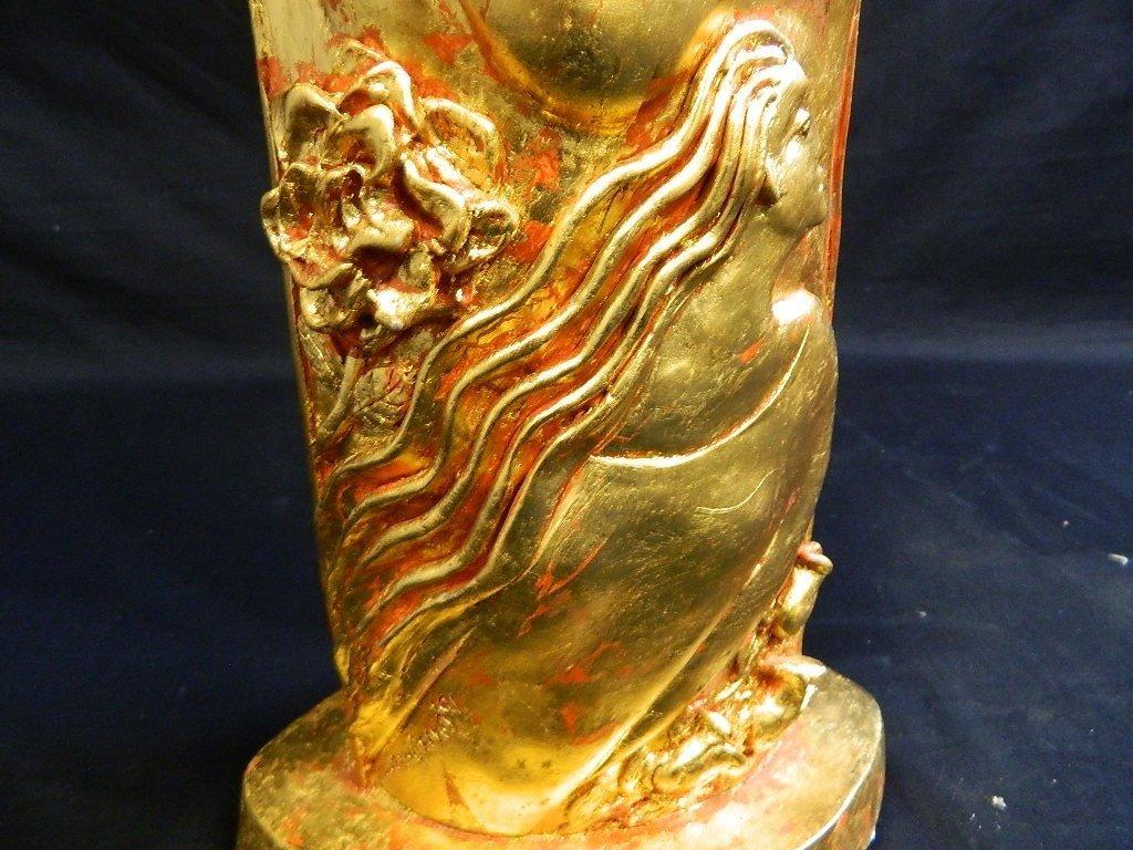 Lauren Grey Standing Plaster Female Sculpture - 7