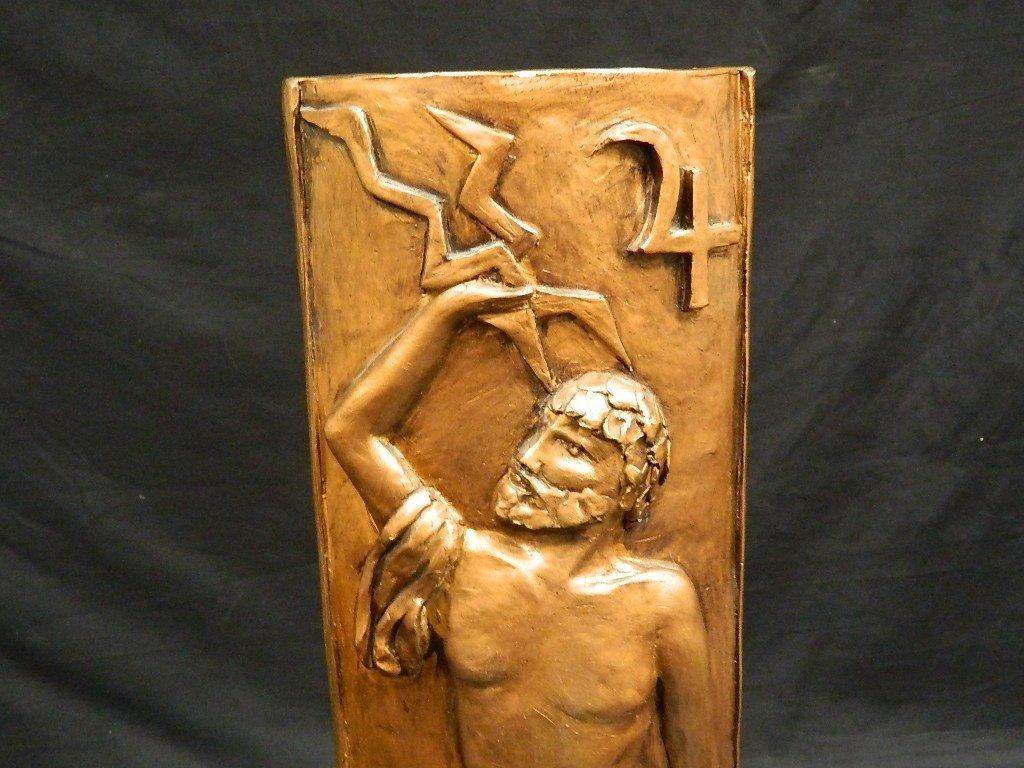 Greek God & Sun Plaster Statue by Lauren Grey - 2