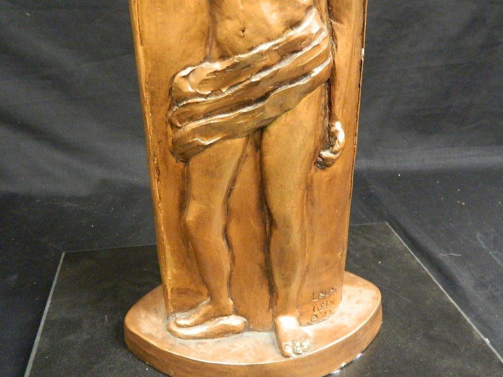 Greek God & Sun Plaster Statue by Lauren Grey - 3
