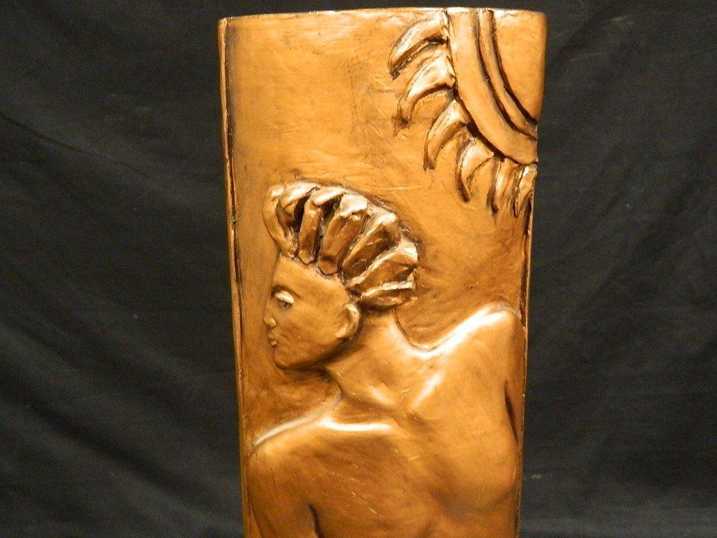 Greek God & Sun Plaster Statue by Lauren Grey - 6