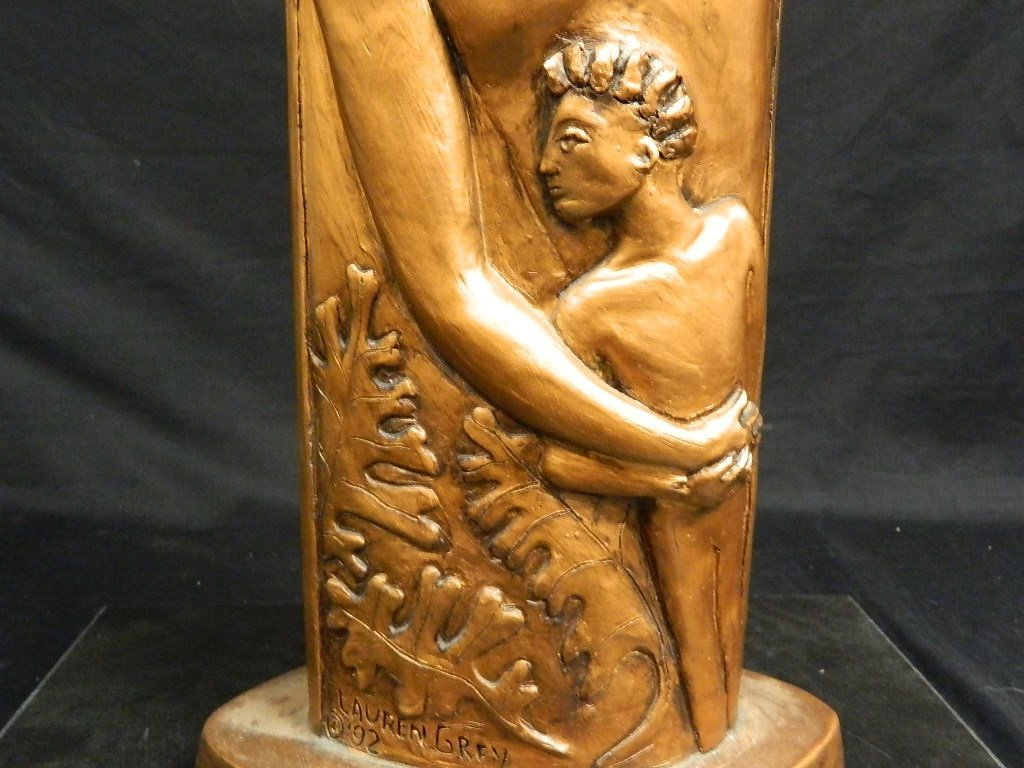 Greek God & Sun Plaster Statue by Lauren Grey - 7