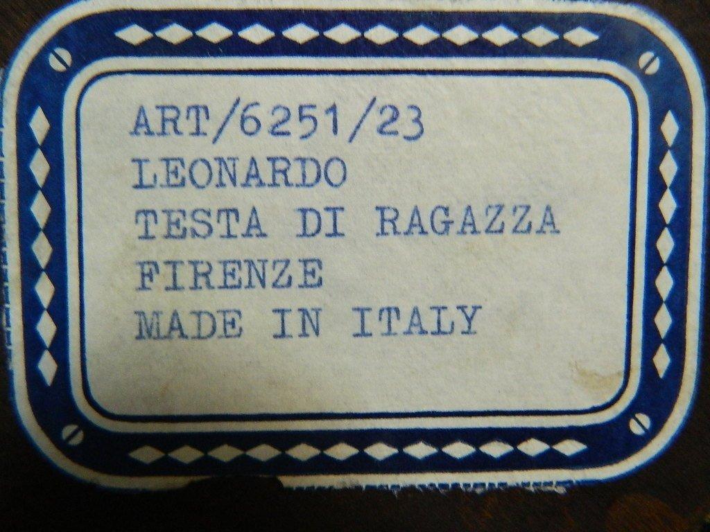 Pair of Testa Di Ragazza  di Vinci portraits - 5