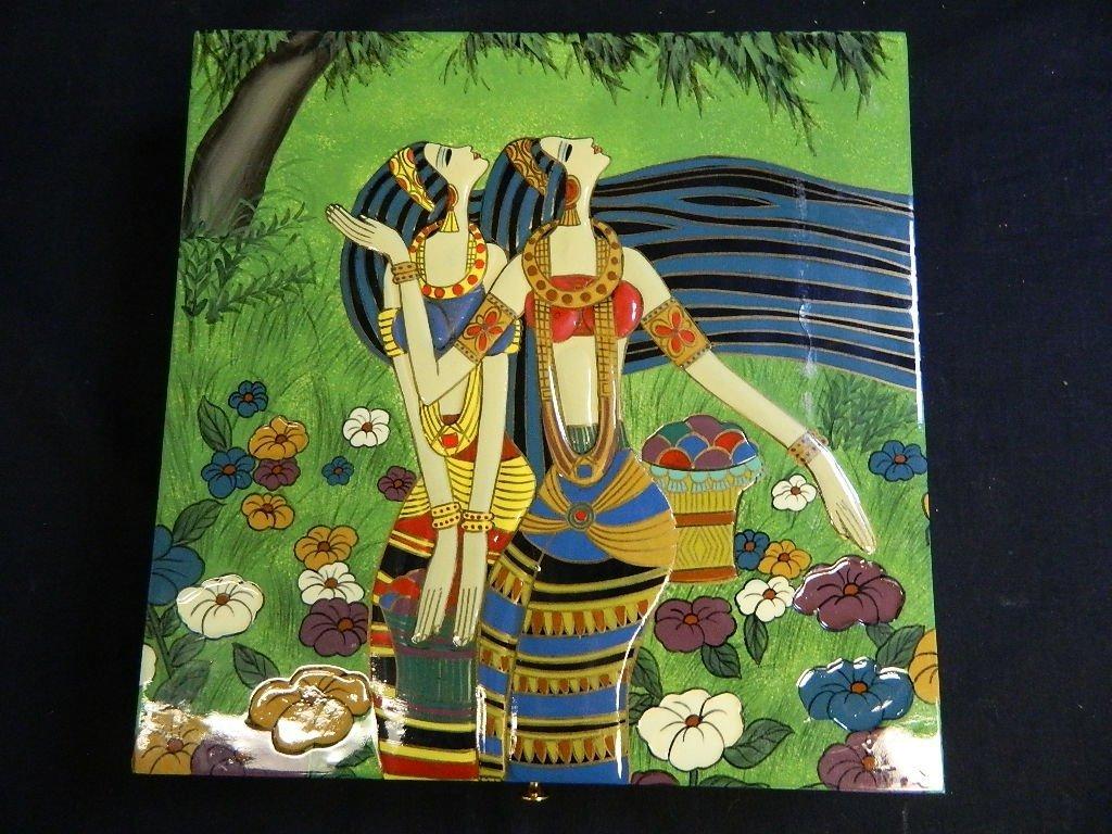 Egyptian Women Themed jewelry trinket box - 2