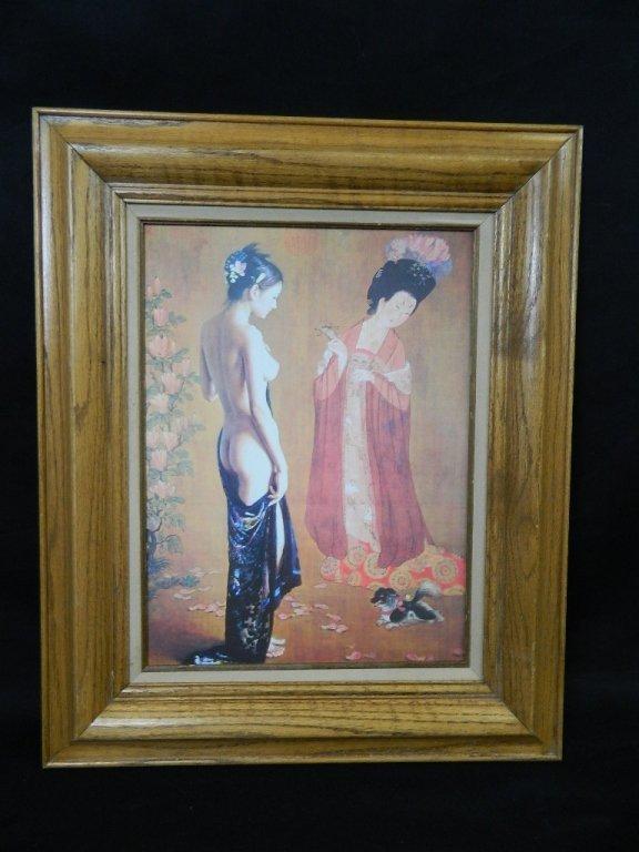 Framed Centuries Apart Asian Art Print on Canvas