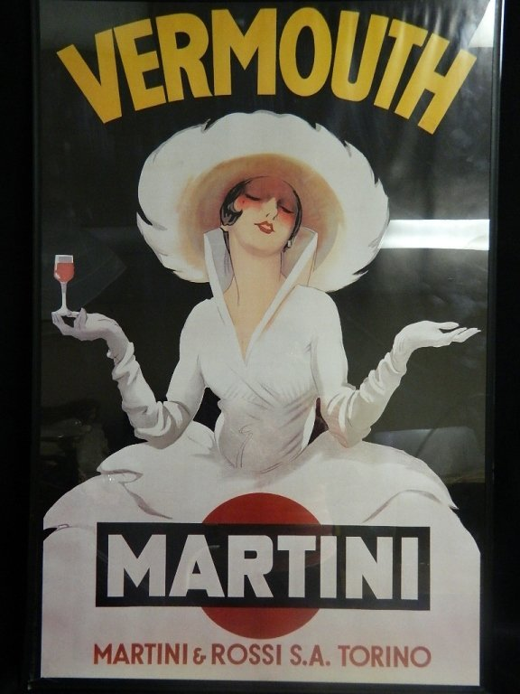Vermouth Martini & Rossi Framed Poster