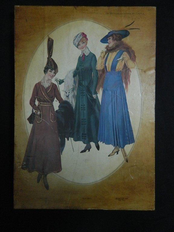 Delineator October 1915 Upper Class Ladies decopauge
