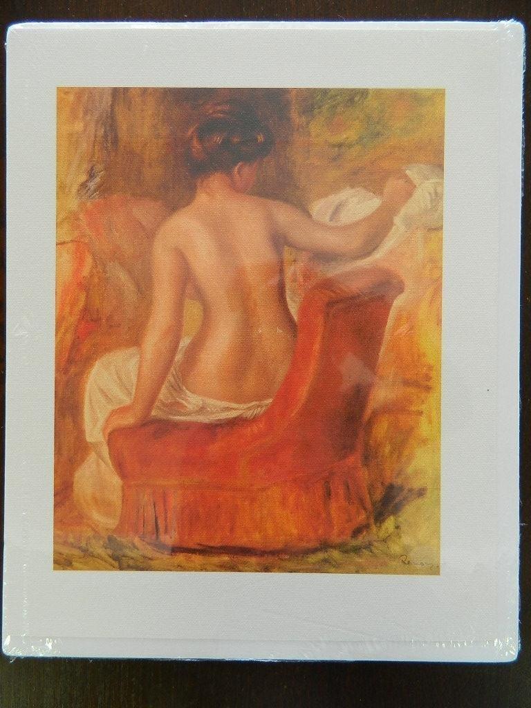 "Renoir Nude in Armchair Canvas Print of  10"" x 12."