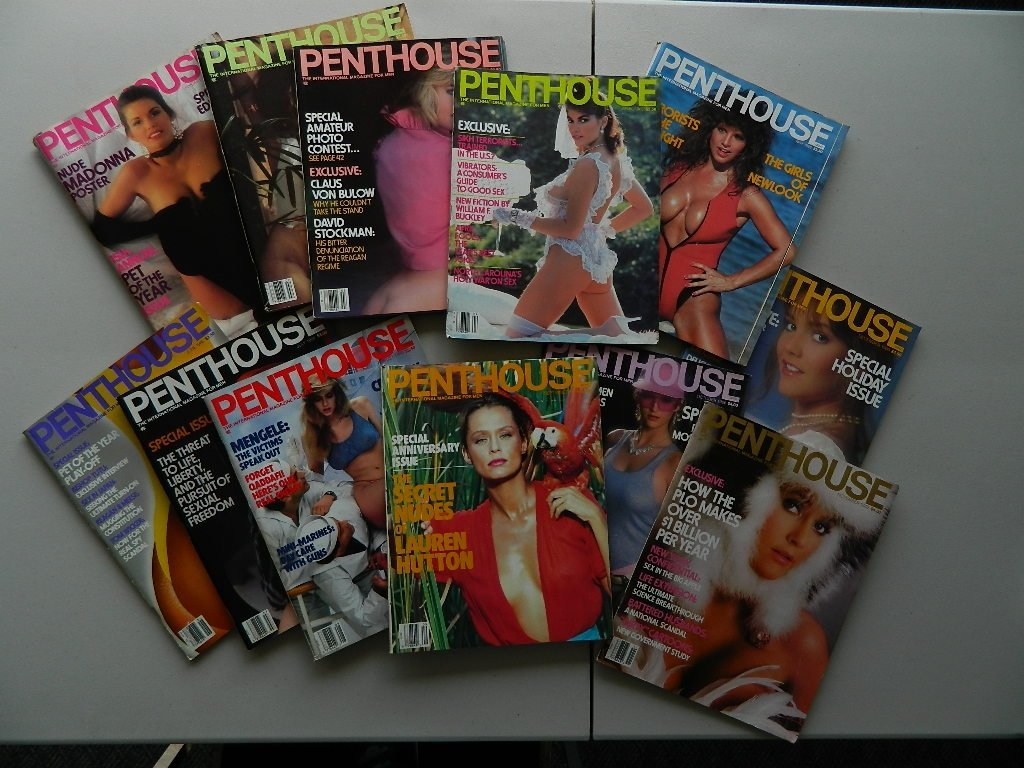 Penthouse Magazine Issues from 1986