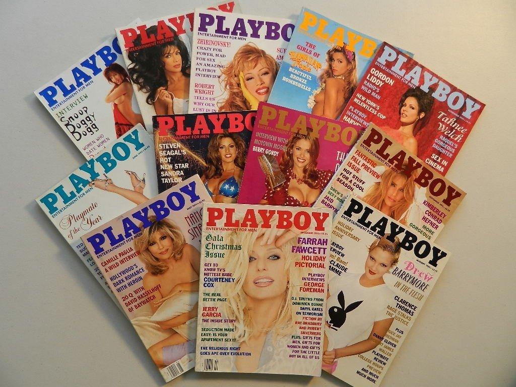 Playboy Magazines from 1995 Jan.Thru December