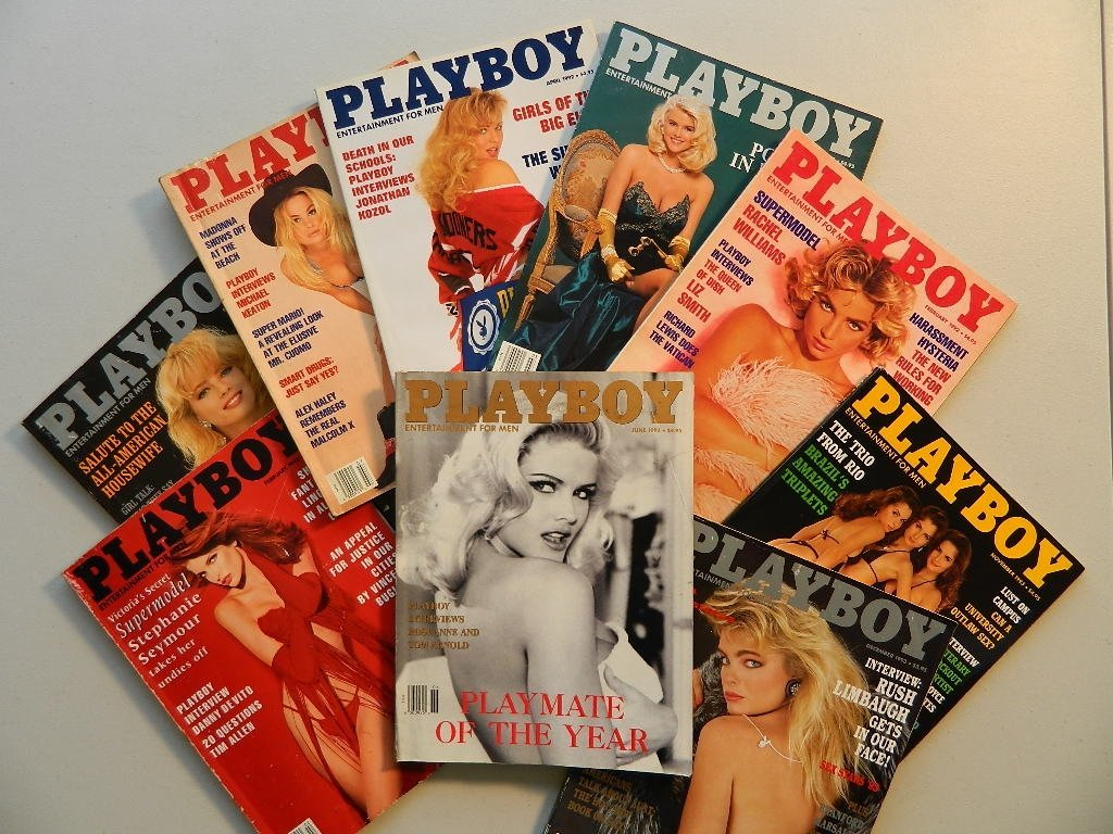 9 Playboy Magazines from 1992 and 1993 NicoleSmith