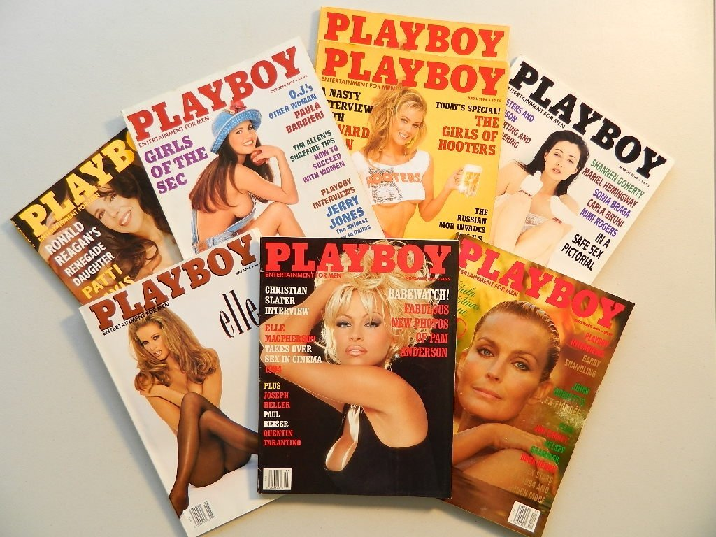 8 Issues of Playboy Magazine from 1994 Derek