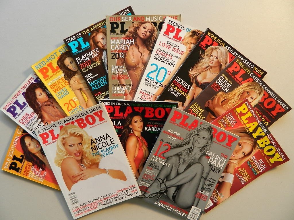 Playboy Magazines January thru December 2007