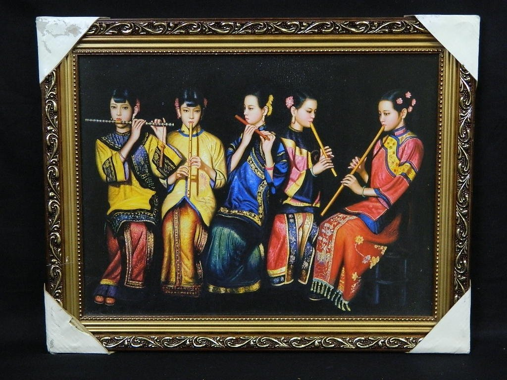 Framed Asian Geisha Girls print