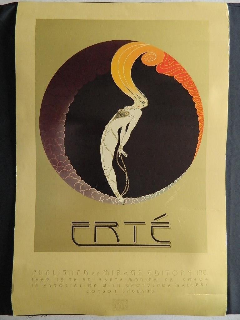 Erte Poster By Mirage Editions,Inc 1979