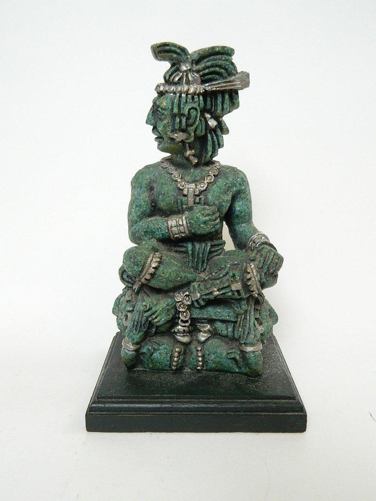 Aztecan God/King/Soldier on Throne Figurine