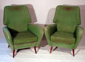 Two Armchair Italian Manufacture, 1950 Ca.